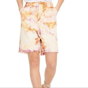 Free people Tie-dyed shorts